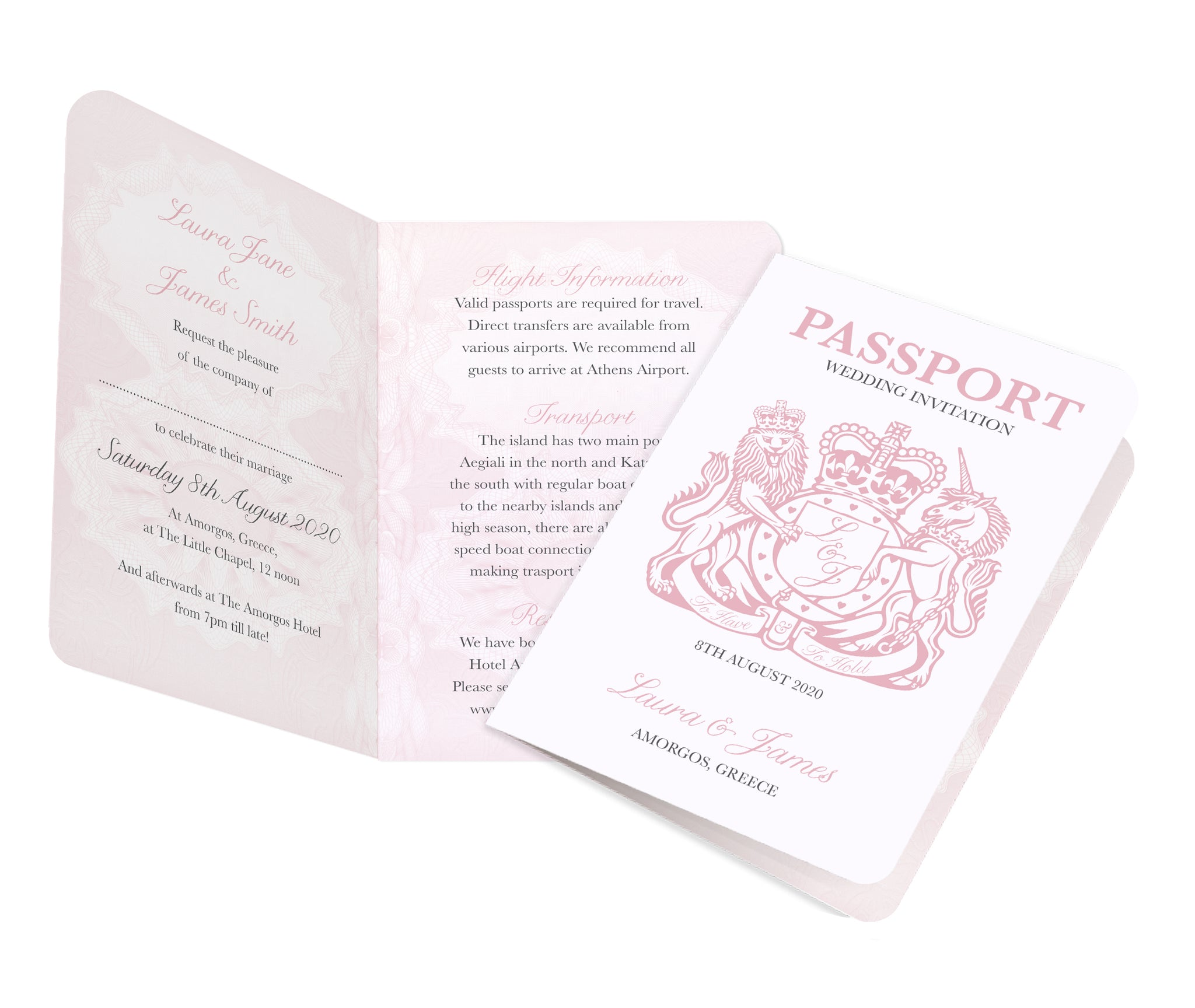 Passport Wedding Invitations, Boarding Pass Invite, Wedding Abroad ...