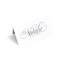 Elegant Script Place Cards, Seating Cards, Place Settings, Calligraphy Place cards, Classical Wedding, Sophisticated Wedding, Elegant Wedding, Simple Wedding, 20 Pack