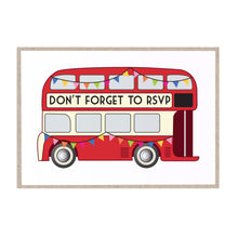 Vintage Bus RSVP Cards, London Wedding, London Bus, Travel Wedding, 10 Pack