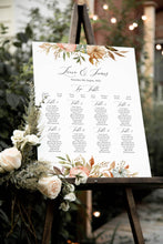 Autumn Pumpkin Table Plan, Seating Plan, Halloween, Autumn Wedding, Fall Wedding, Autumn Leaf, A2 Size