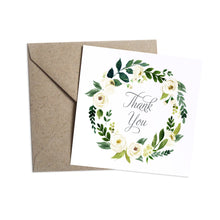 White Wedding Thank you cards, White Floral Watercolour, White Peony, White Rose Invites, Botanical Wedding, 10 Pack