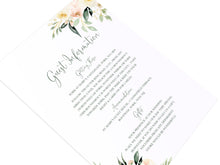 Blush Floral Guest Information Cards, Detail Cards, Blush Wedding, Pink Flowers, Blush Ivory, Botanical, Modern Invitations, 10 Pack