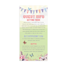 Boho Festival Ticket Guest Information Cards, Detail Cards, Festival Wedding, Festival Invitation, Camping Wedding, Wedding Tent, Festival Ticket, Wedfest, 10 Pack