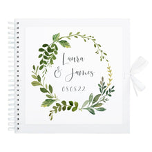 Botanical Garden Wedding Guest Book, Botanical Guest Book, Scrapbook, Spiral Bound 8x8""