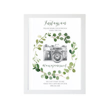 Green Leaf Instagram Sign, Watercolour Foliage, Greenery, Eucalyptus Invites, Green Wreath, Botanical Wedding, 8x10 Size