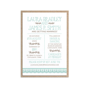 Country Lace Wedding Invitations, Rustic Wedding Invitation, Barn Wedding Invitation, Wedding Lace, 10 Pack
