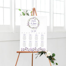 Lavender Table Plan, Seating Plan, Rustic Wedding, Rosemary, Herbs, Purple Wedding, Barn Wedding, Lilac Wedding, A2 Size