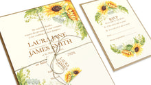 Rustic Sunflower Tags & Twine, Rustic Wedding, Country Wedding, Sunflowers, 10 Pack