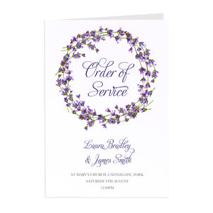 Lavender Order of Service Booklets, Rustic Wedding, Rosemary, Herbs, Purple Wedding, Barn Wedding, Lilac Wedding, 10 Pack