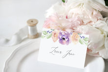 Lilac and Blush Place Cards, Seating Cards, Place Settings, Detail Cards, Purple Wedding, Lilac Wedding, Blush