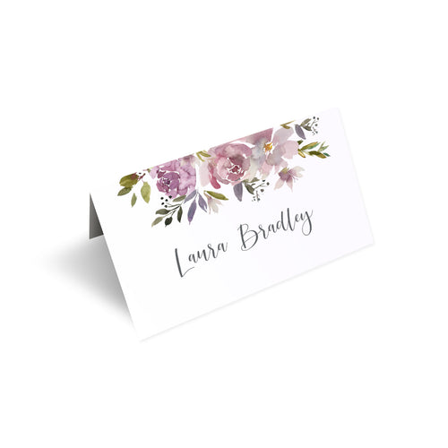 Dusty Rose Place Cards, Seating Cards, Place Settings, Mauve, Dusky Pink, Pink Rose, Blush Wedding, 20 Pack
