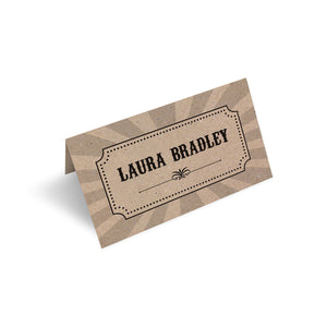 Circus Ticket Place Cards, Recycled Kraft, Fun Fair, Carnival, Ticket Invitations, 20 Pack