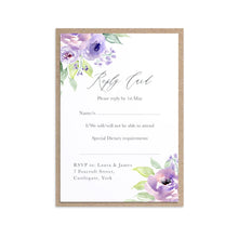 Lilac and Blush RSVP Cards, Purple Wedding, Lilac Wedding, Blush, 10 Pack