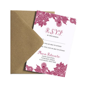 Henna RSVP Cards, Indian Wedding, Mehandi, Paisley Wedding Invitation, Henna Invite, Hindi Wedding, 10 Pack