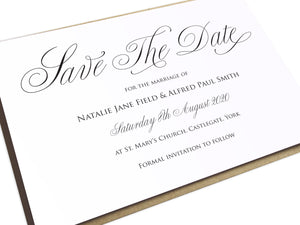 Elegant Script Save the Date Cards, Calligraphy Invitations, Classical Wedding Invites, Sophisticated Wedding, Elegant Wedding, Simple Wedding, 10 Pack