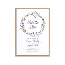 Lavender Save the Date Cards, Rustic Wedding, Rosemary Herb Invitation, Purple Wedding, Rustic Wedding, Lilac Wedding, 10 Pack