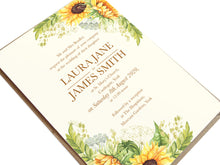 Rustic Sunflower Wedding Invitations, Rustic Wedding, Country Wedding Invitation, Sunflowers, Sunflower Invitation, 10 Pack