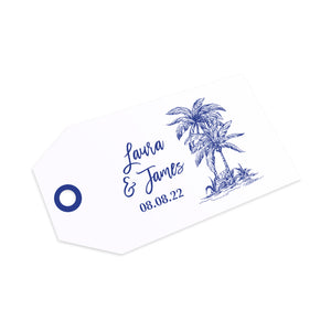 Palm Tree Passport Wedding Tags & Twine, Boarding Pass Invite, Wedding Abroad, Destination Wedding, Travel Wedding, Plane Ticket Invite, 10 Pack