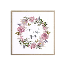 Dusty Rose Thank you cards, Mauve, Dusky Pink, Pink Rose, Blush Wedding, 10 Pack