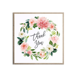Blush Rose Baby Shower Thank you cards, Blush Baby Shower, Blush Flowers, Blush Ivory, 10 Pack