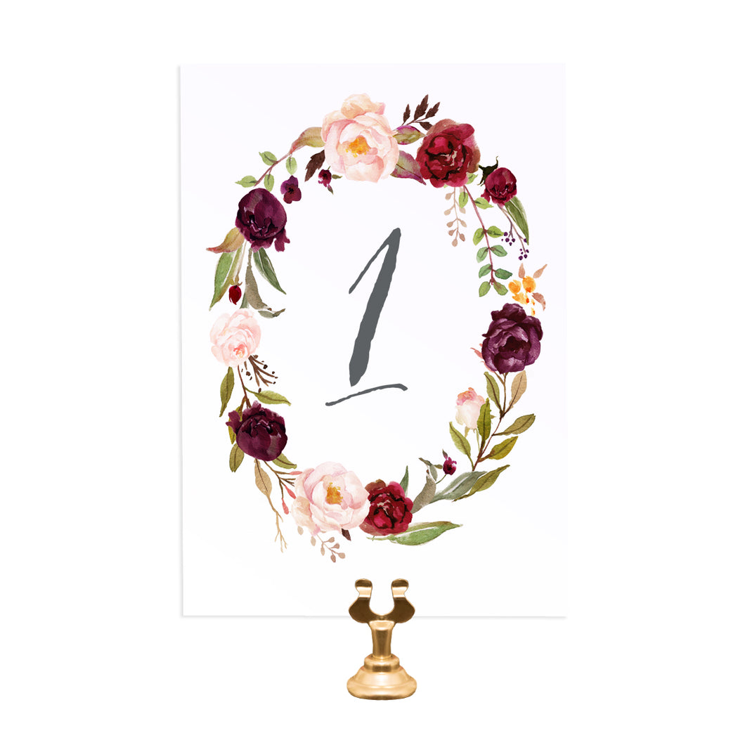 Boho Red Rose Table Numbers, Table Names, Burgundy Invite, Red Roses, Red Wedding, Boho Floral Wedding, Red Rose, Rustic Country, 5 Pack