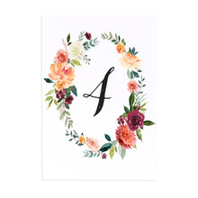 Paprika Table Numbers, Table Names, Orange Floral Wedding Invitation, Autumn Wedding, Fall Wedding, 5 Pack