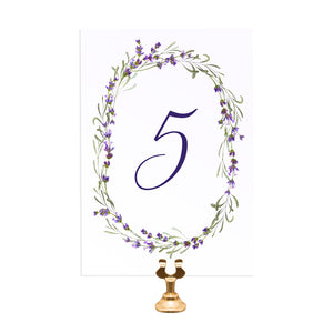 Lavender Table Numbers, Table Names, Rustic Wedding, Rosemary, Herbs, Purple Wedding, Barn Wedding, Lilac Wedding, 5 Pack