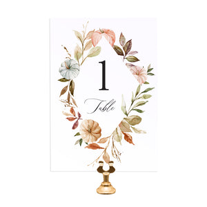 Autumn Pumpkin Table Numbers, Table Names, Halloween, Autumn Wedding, Fall Wedding, Autumn Leaf, 5 Pack