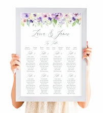 Lilac and Blush Table Plan, Seating Plan, Purple Wedding, Lilac Wedding, Blush, A2 Size