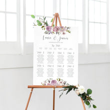 Dusty Rose Table Plan, Seating Plan, Mauve, Dusky Pink, Pink Rose, Blush Wedding, A2 Size