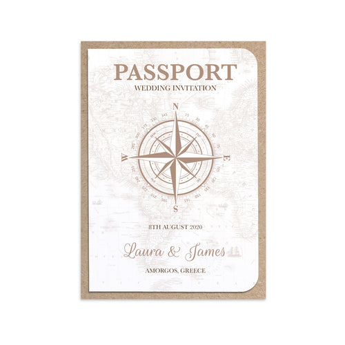 Vintage Passport Wedding Invitations, Boarding Pass Invite, Wedding Abroad, Destination Wedding, Travel Wedding, Plane Ticket Invite, 10 Pack