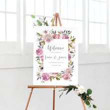 Dusty Rose Welcome Sign, Mauve, Dusky Pink, Pink Rose, Blush Wedding