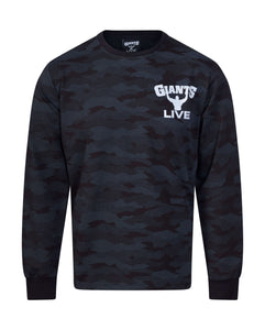 NEW Black Camo Long Sleeve Sweat