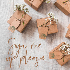 Sign up for PaisleyGroveVIP, gifts in kraft paper