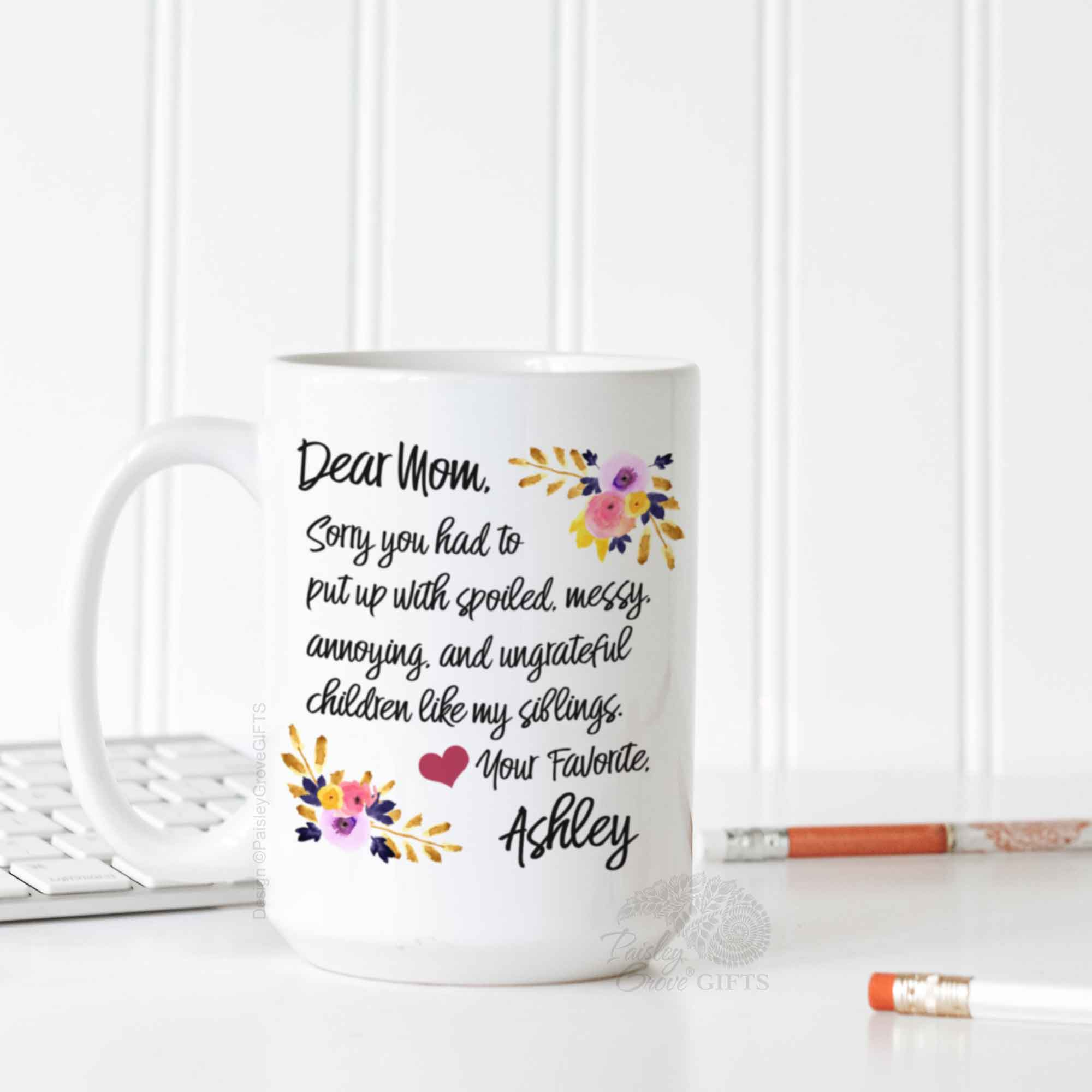 CopyrightPaisleyGroveGIFTS P011a Funny Christmas Gift for Mom from Daughter
