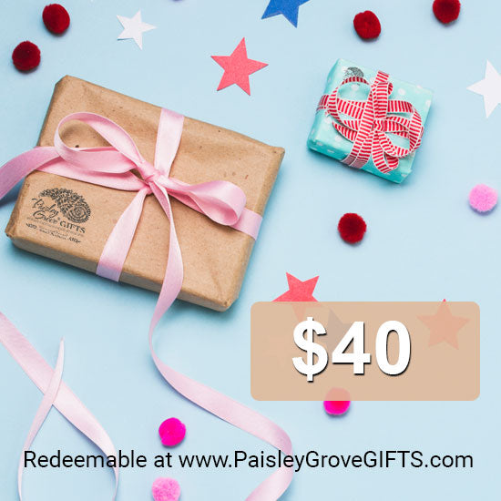 $40 giftcard for PaisleyGroveGIFTS