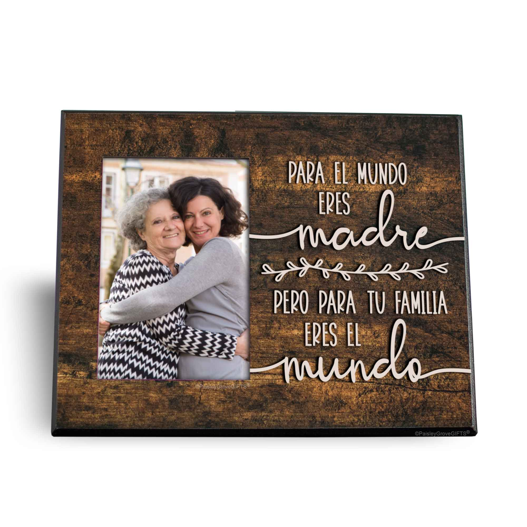 CopyrightPaisleyGroveGIFTS S200d Dia de las madres frame for Spanish Mom with Quote in Espanol