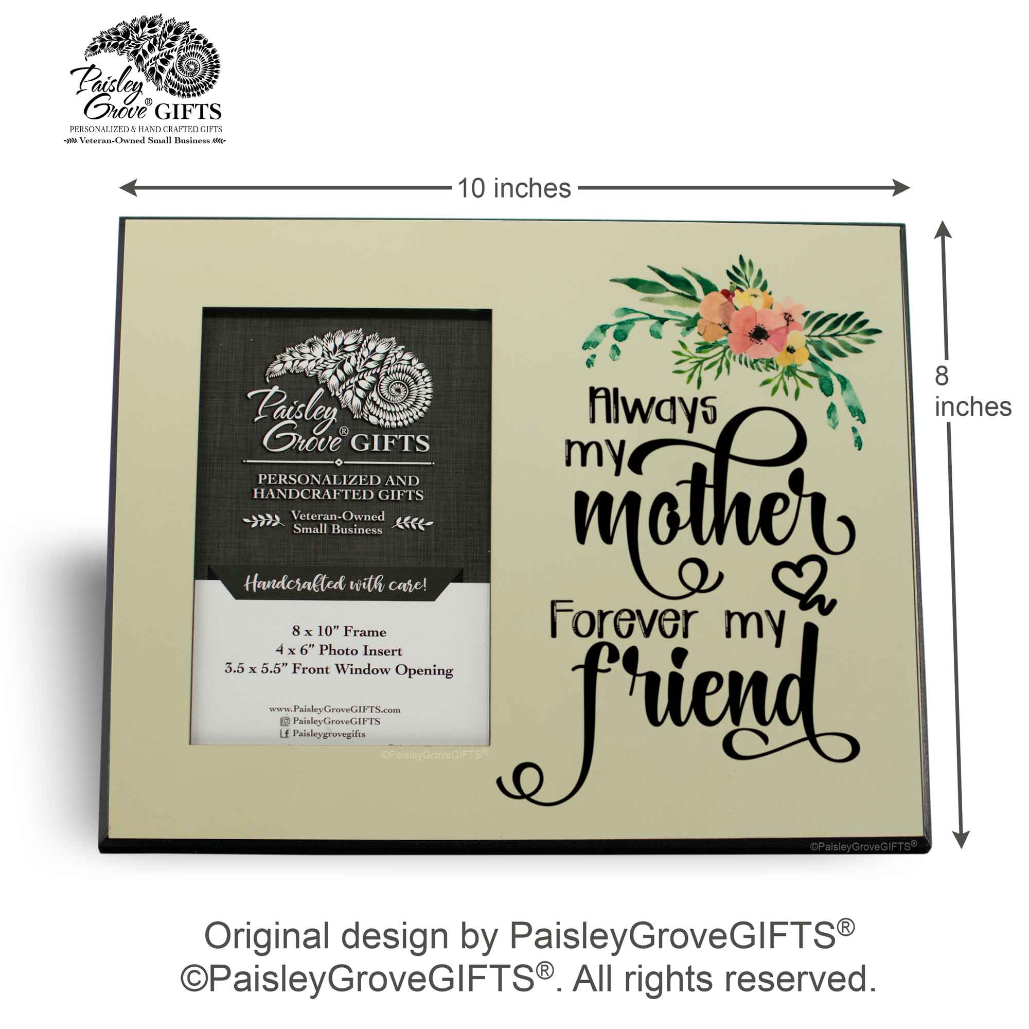 CopyrightPaisleyGroveGIFTS S201d Measurements for Meaningful Mom Gift with Loving Mom Quote