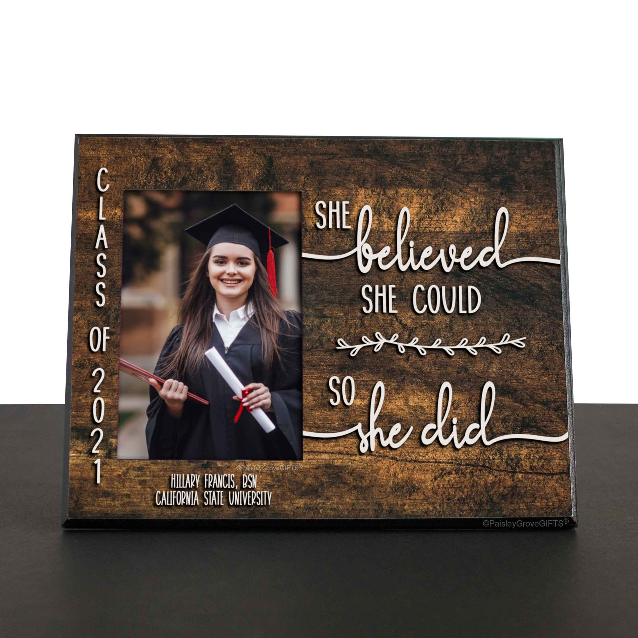 CopyrightPaisleyGroveGIFTS S226f2 Sentimental gift for graduating college seniors and high school seniors personalized gift