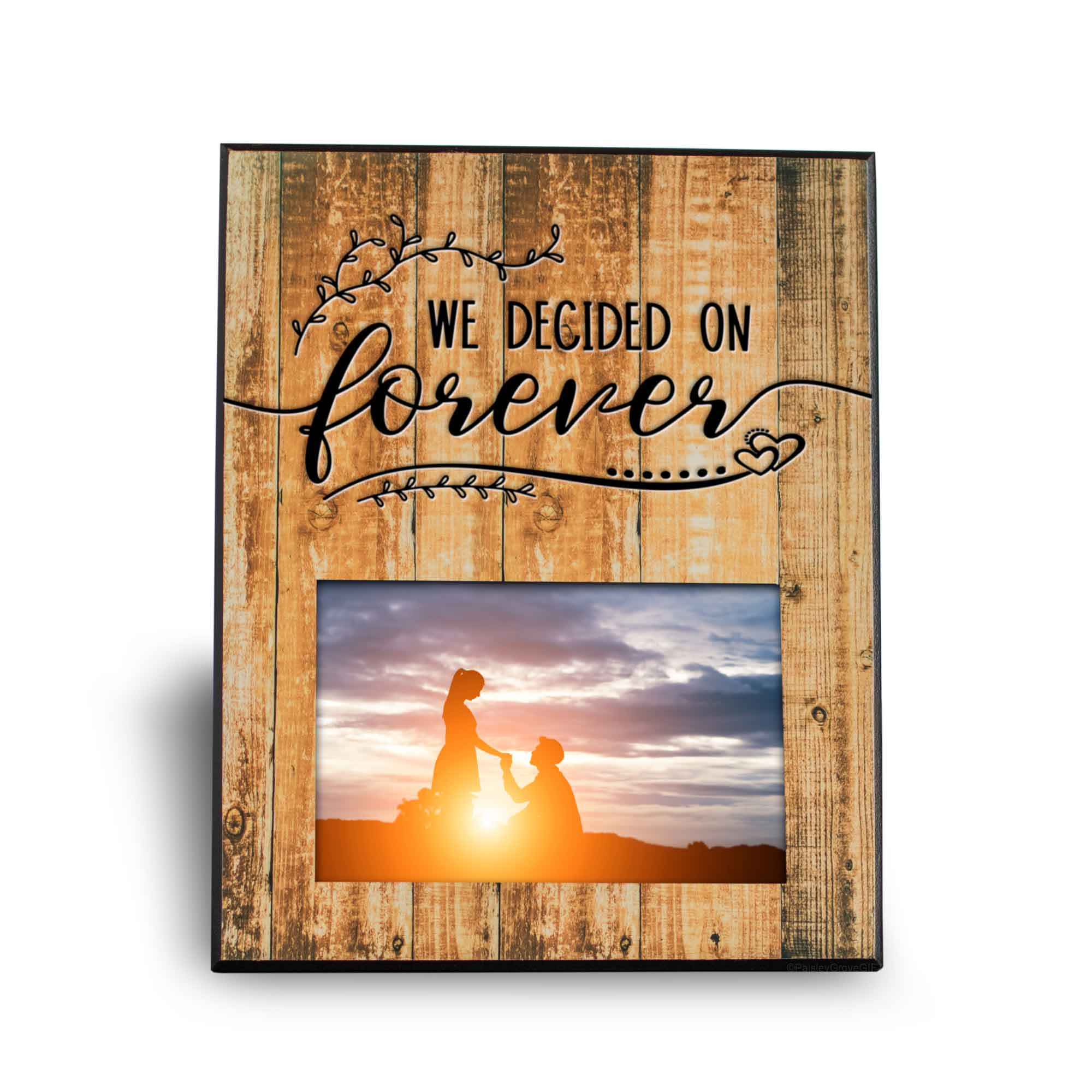 CopyrightPaisleyGroveGIFTS S201c1 We decided on forever engagement gifts for soon to be bride rustic frame