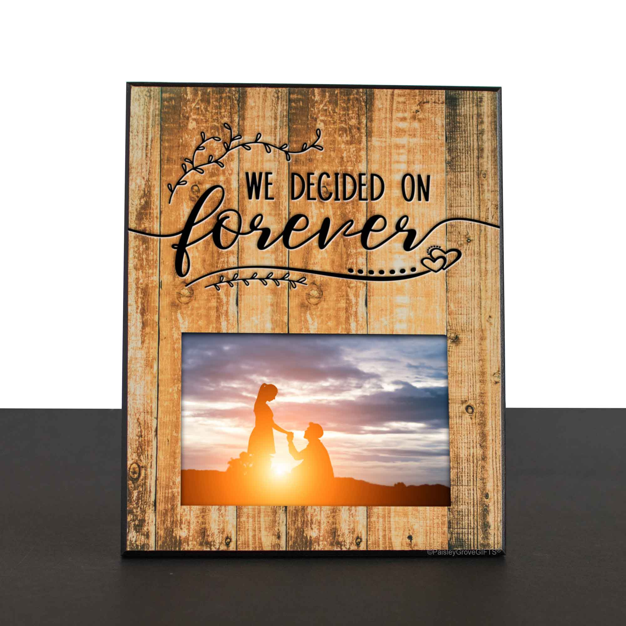 CopyrightPaisleyGroveGIFTS S201c1 Just Engaged Gift for Best Friend New Bride Future Mrs Rustic Wedding Frame