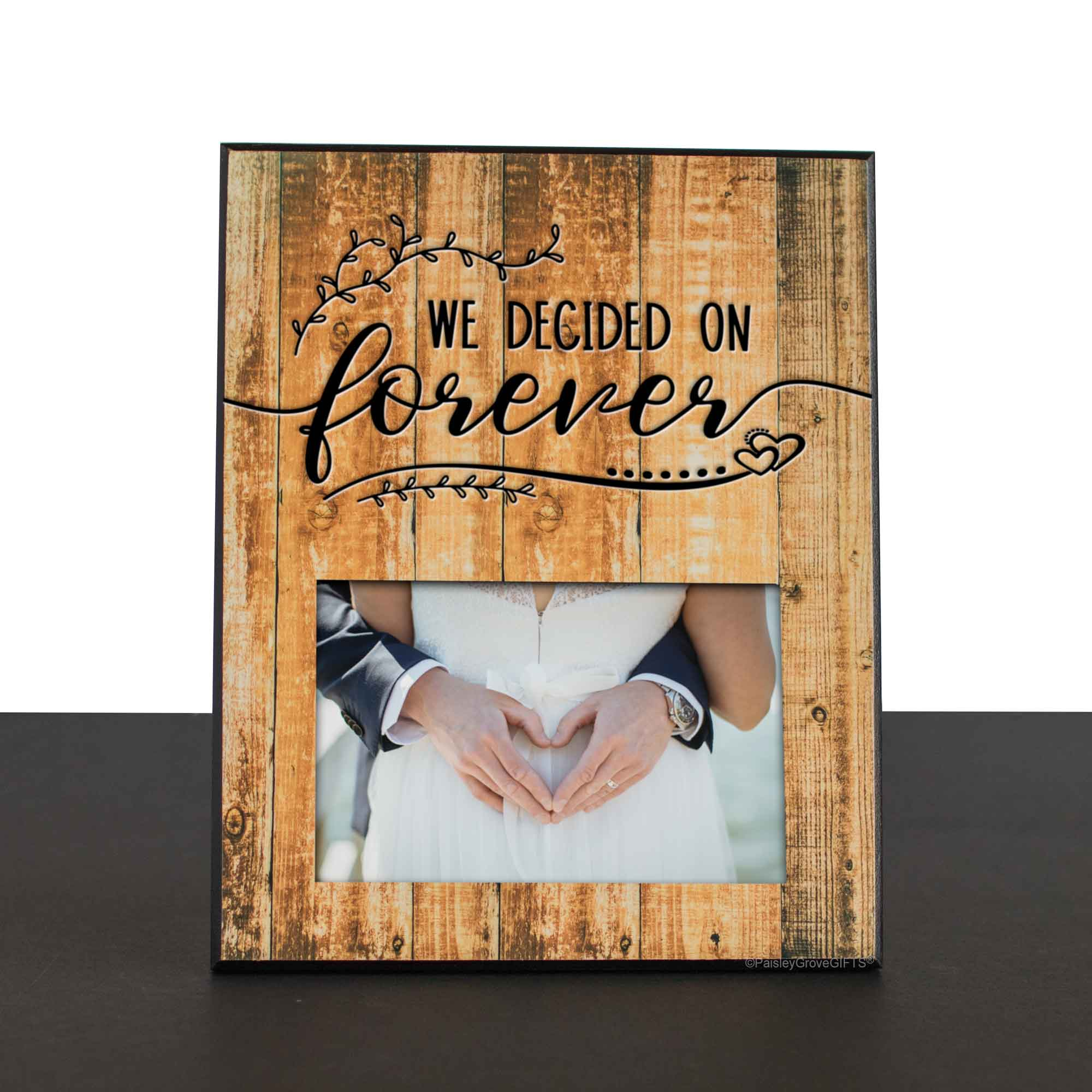 CopyrightPaisleyGroveGIFTS S201c1 Rustic Wood Frame for New Mr and Mrs Unique Wedding Keepsake Gift