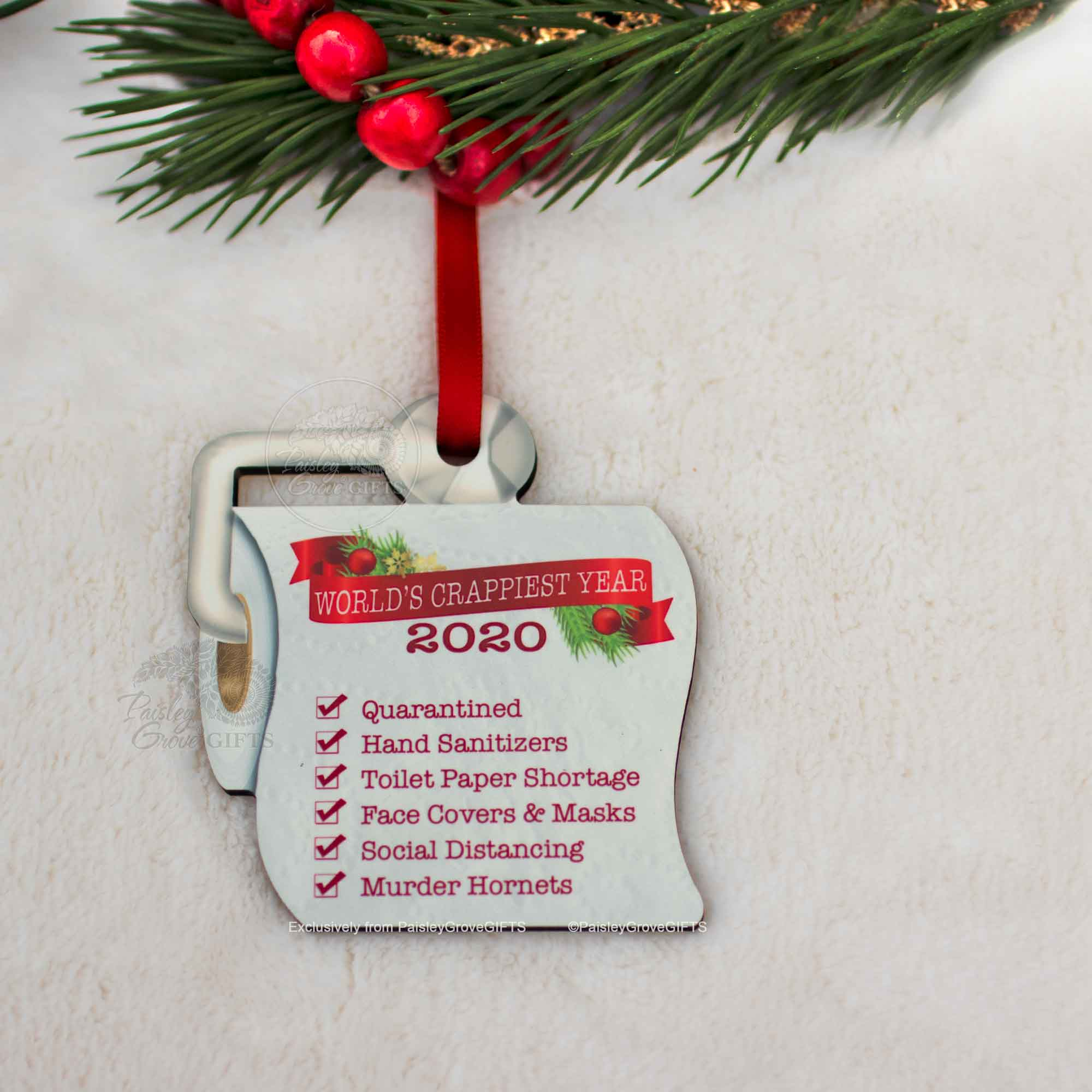 CopyrightPaisleyGroveGIFTS S525b Unique Christmas Ornament 2020 Quarantined Christmas Gift