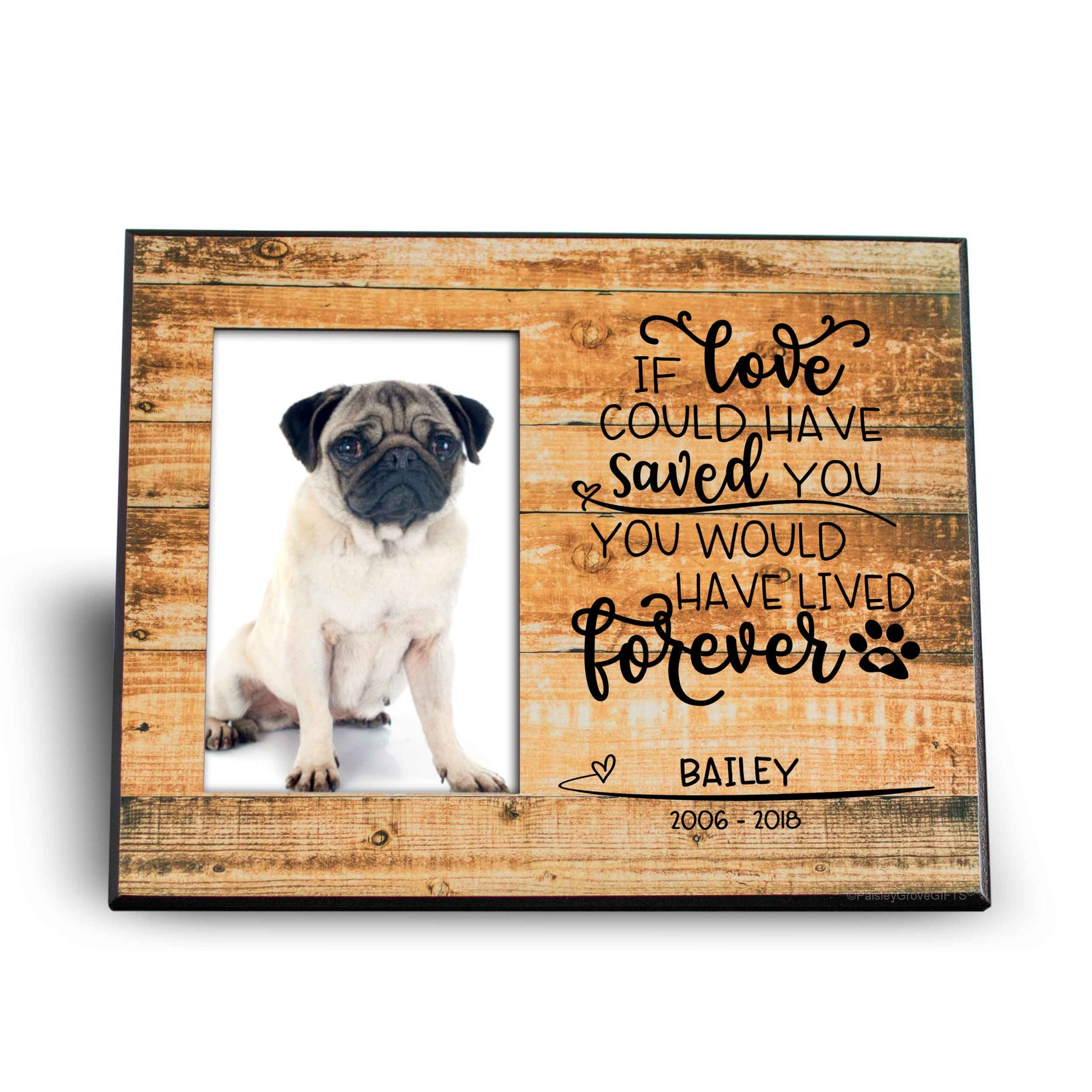 CopyrightPaisleyGroveGIFTS S280a1 Pet Memorial Keepsake Gift for Pet Loss Dog Cat Frame with Pet Photo
