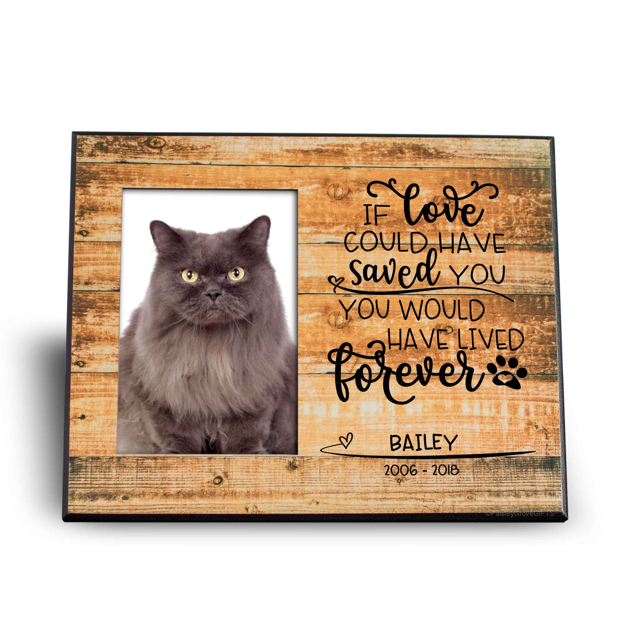 CopyrightPaisleyGroveGIFTS S280a1 Pet Loss Sympathy Gift for Cat Loss Frame with Photo Insert