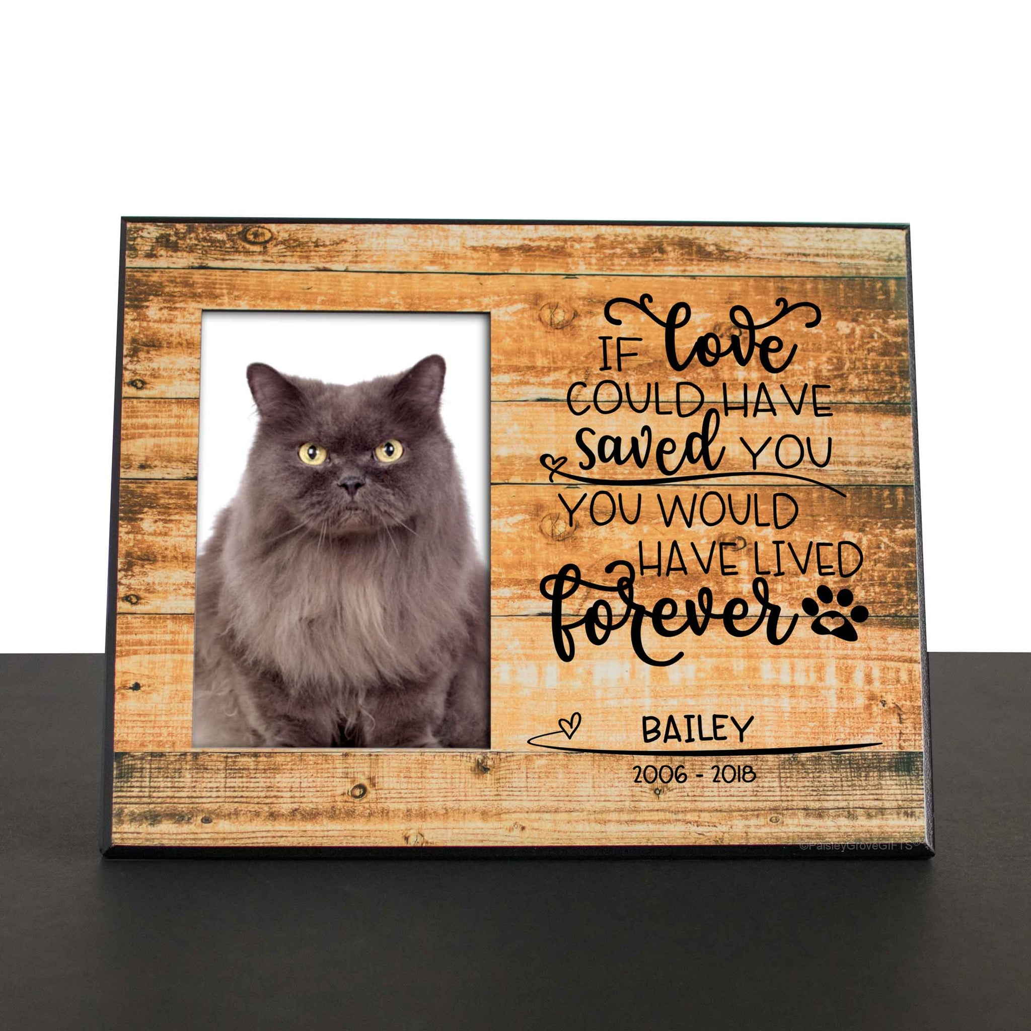 CopyrightPaisleyGroveGIFTS S280a1 Cat Loss Sympathy Gift for Pet Death Remembrance Frame