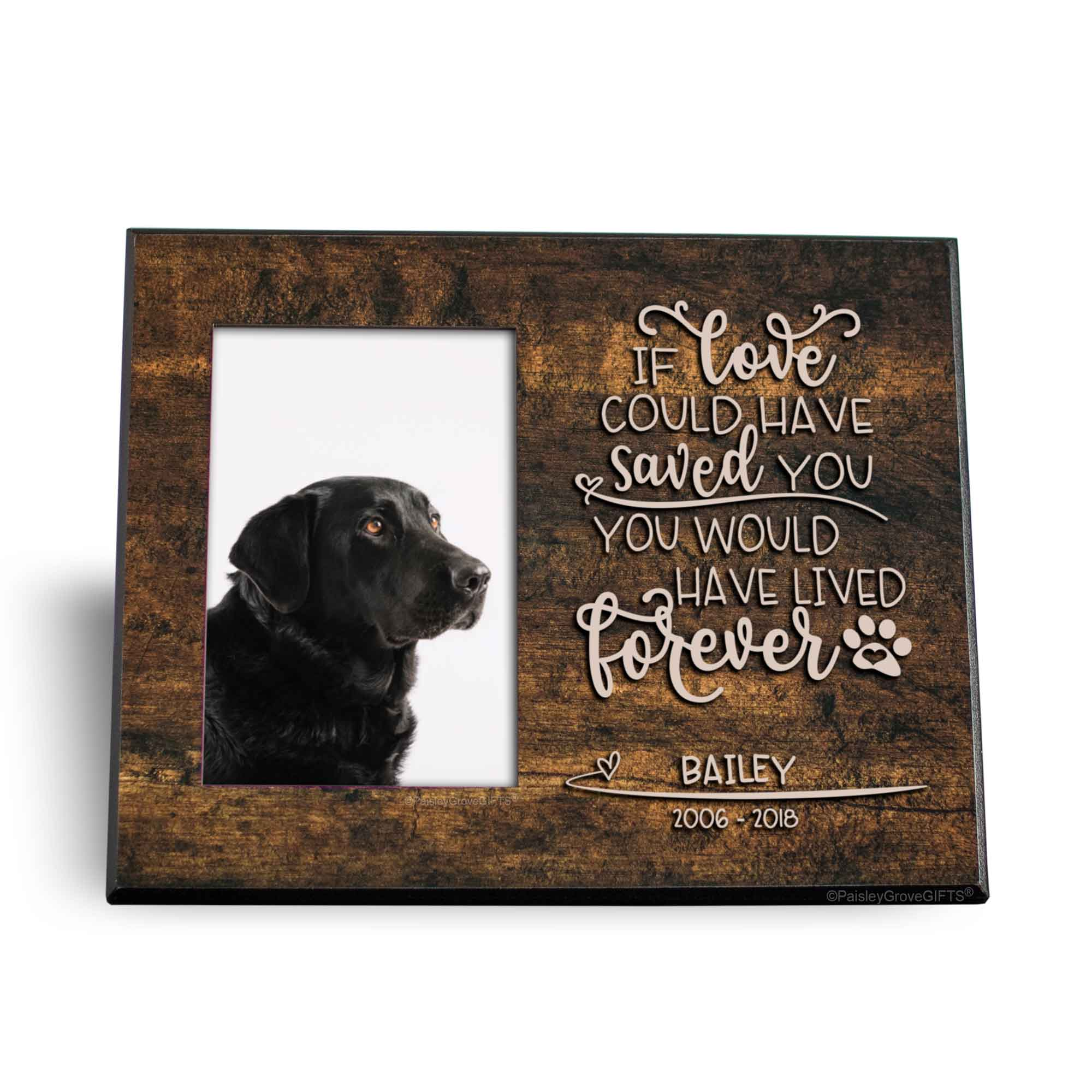 CopyrightPaisleyGroveGIFTS S280c Pet Memorial Keepsake Gift If Love Could've Saved You Quote on 8x10 inch frame
