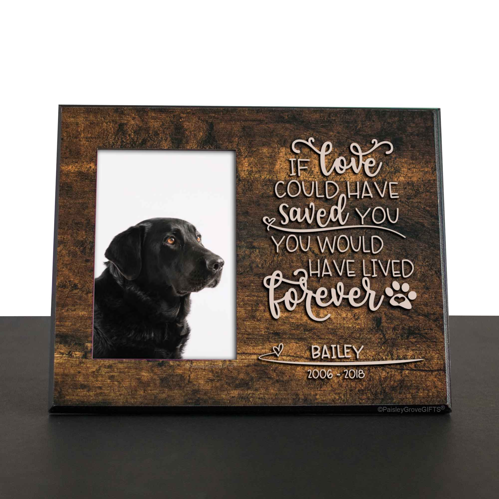 CopyrightPaisleyGroveGIFTS S280c Pug Death or Dog Loss Sympathy Gift for Pet Death Remembrance Frame