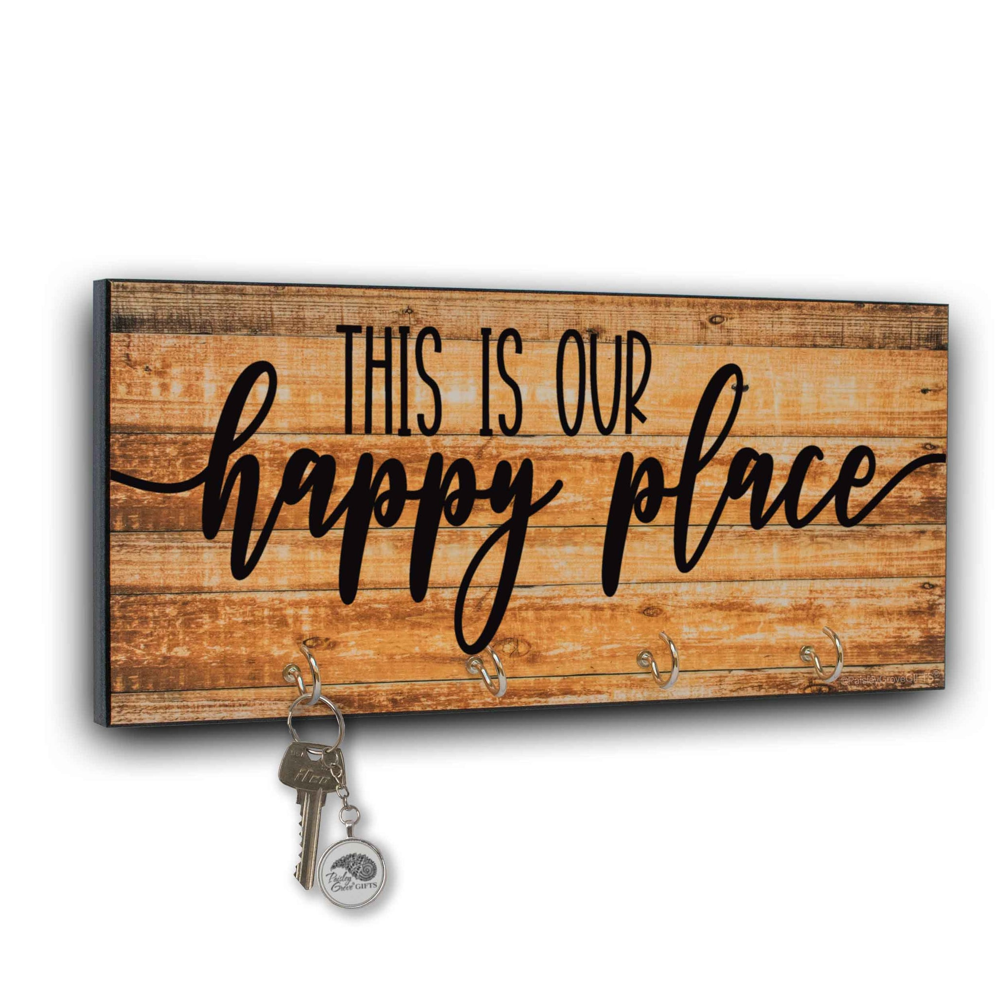 This is Our Happy Place Key Holder for Wall - S300b