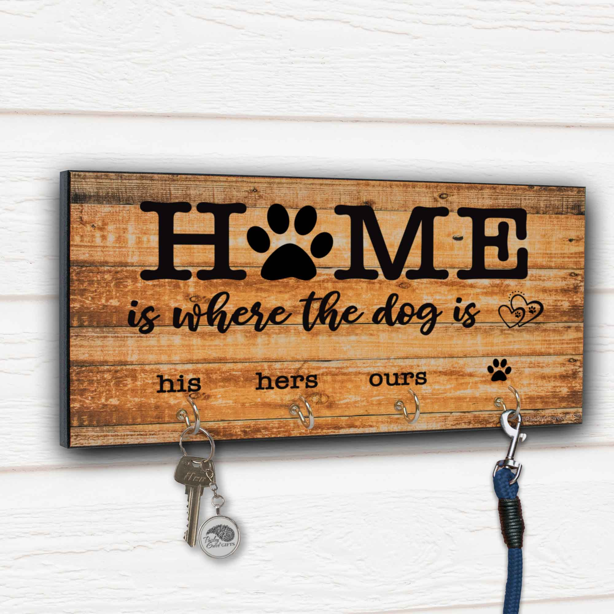 His Hers Ours Key Holder for Wall Leash Organizer - S307b